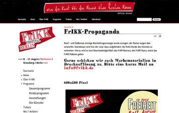 Screenshot Internetseite FrIKK.de