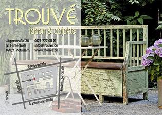 Trouvé - Postkarte zur Eröffnung - Rückseite