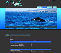 Flywhale Internetseite - Screenshot  2